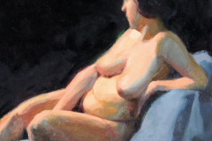 reclining-curvy-nude-on-black-colour-study