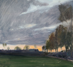 Sunset-glimpsed-Ruskin-Park