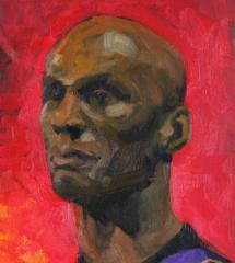 Male-model-portrait-on-red
